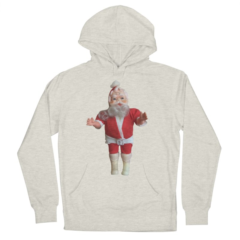 Creepy Thrift Store Santa Women's French Terry Pullover Hoody by Lili Valente Makes Stuff