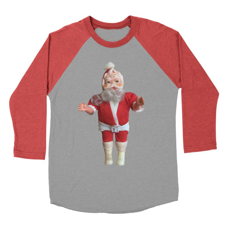 Creepy Thrift Store Santa Women's Baseball Triblend Longsleeve T-Shirt by Lili Valente Makes Stuff