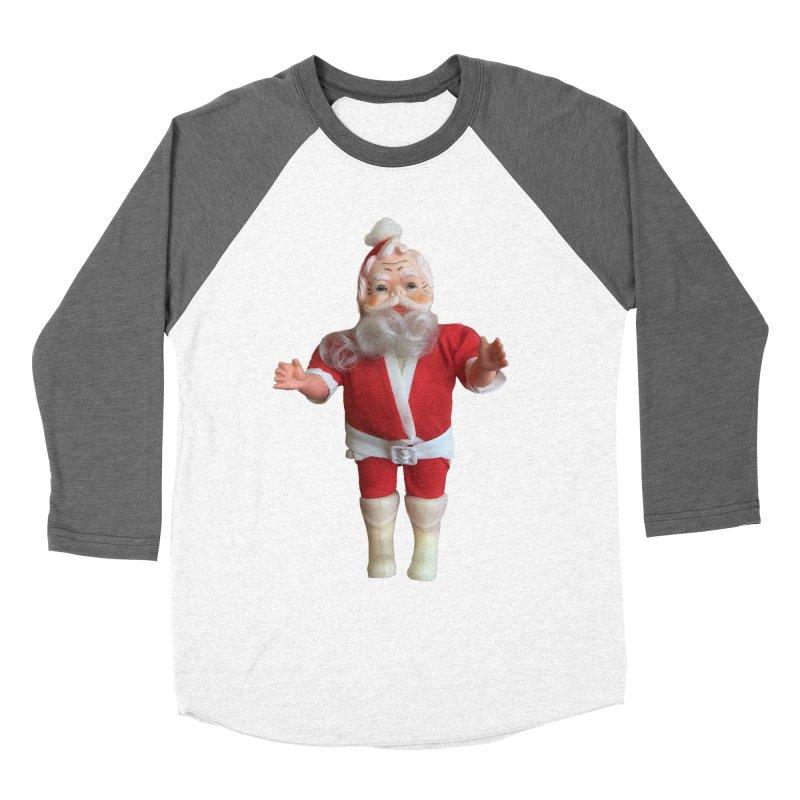 Creepy Thrift Store Santa Men's Baseball Triblend Longsleeve T-Shirt by Lili Valente Makes Stuff