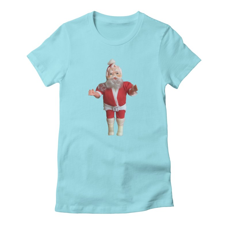 Creepy Thrift Store Santa Women's Fitted T-Shirt by Lili Valente Makes Stuff
