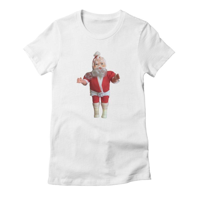Creepy Thrift Store Santa Women's T-Shirt by Lili Valente Makes Stuff