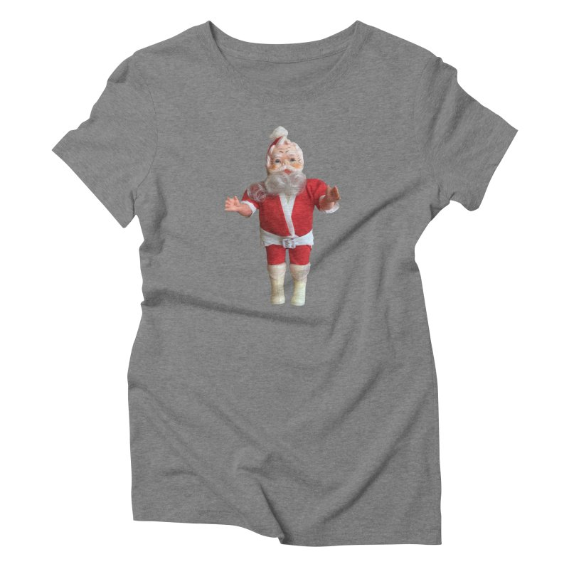 Creepy Thrift Store Santa Women's Triblend T-Shirt by Lili Valente Makes Stuff