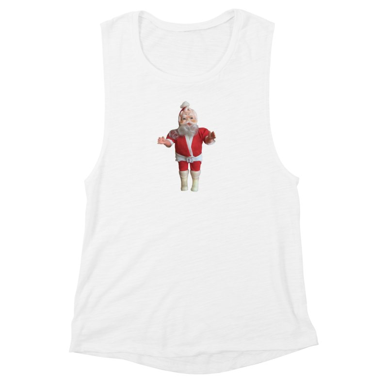 Creepy Thrift Store Santa Women's Muscle Tank by Lili Valente Makes Stuff