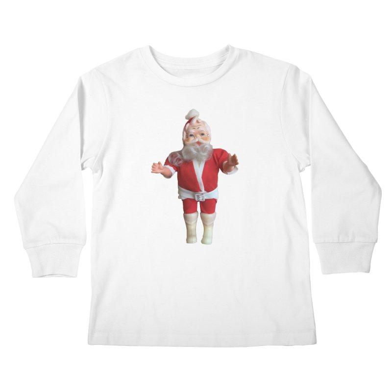 Creepy Thrift Store Santa Kids Longsleeve T-Shirt by Lili Valente Makes Stuff