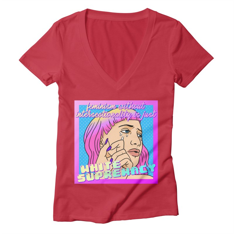 Facts (Remix) Women's Deep V-Neck V-Neck by lil merch