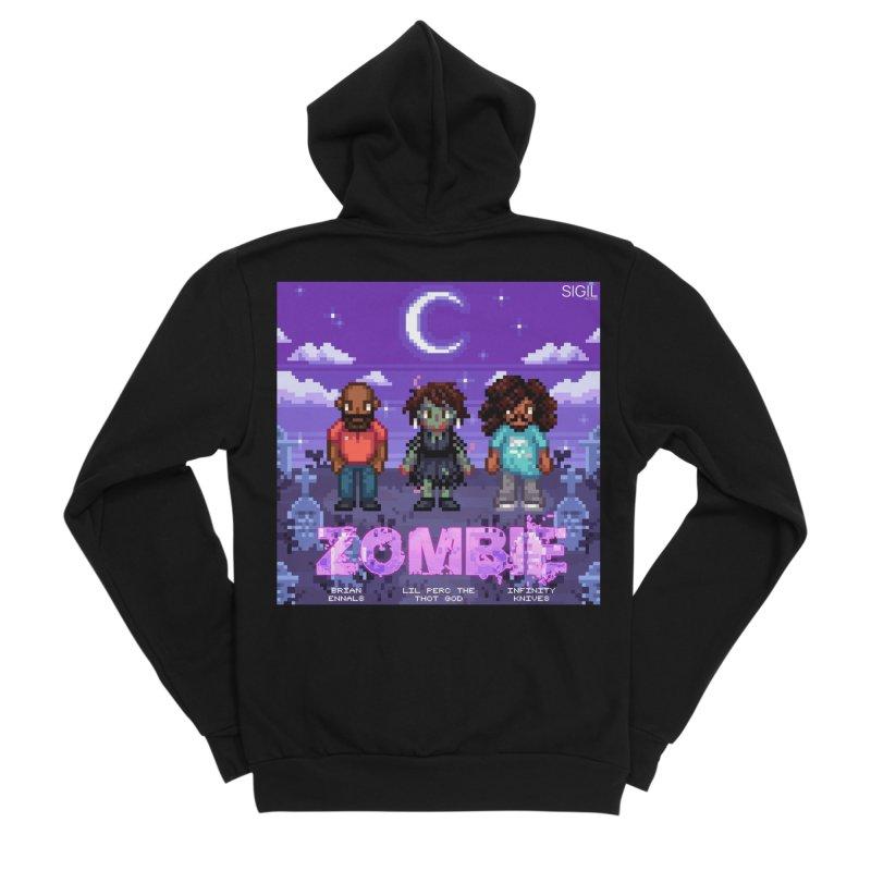 Zombie (Full) Men's Sponge Fleece Zip-Up Hoody by lil merch