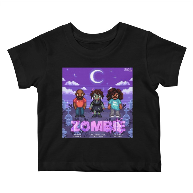 Zombie (Full) Kids Baby T-Shirt by lil merch