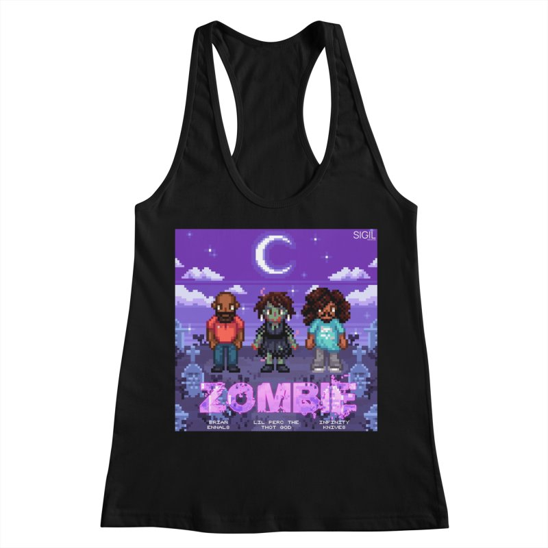 Zombie (Full) Women's Racerback Tank by lil merch
