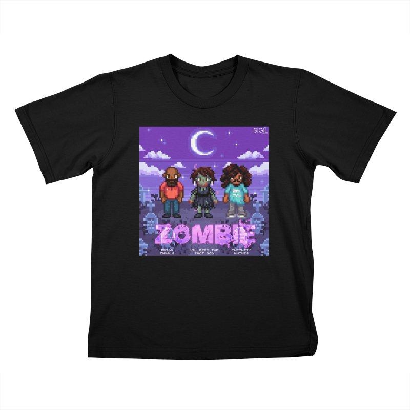 Zombie (Full) Kids T-Shirt by lil merch