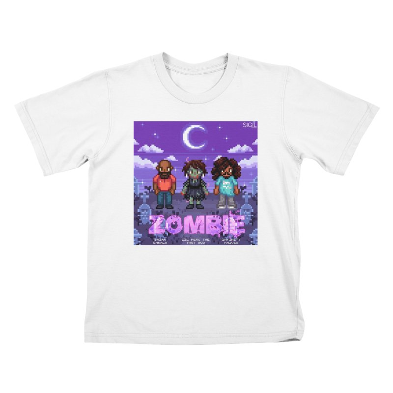 Zombie (Full) Kids T-Shirt by lil merch