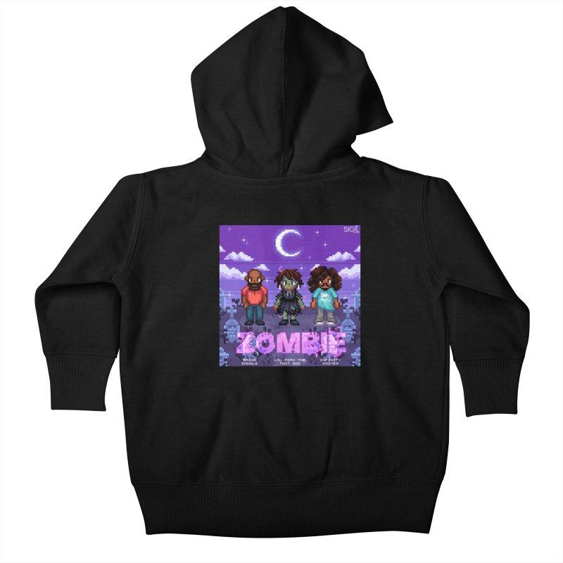 Zombie (Full) Kids Baby Zip-Up Hoody by lil merch