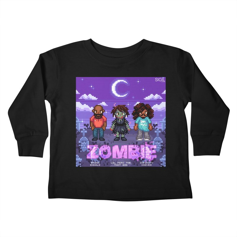 Zombie (Full) Kids Toddler Longsleeve T-Shirt by lil merch