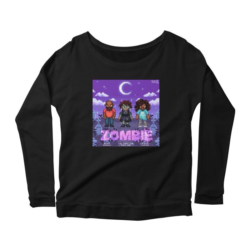 Zombie (Full) Women's Scoop Neck Longsleeve T-Shirt by lil merch