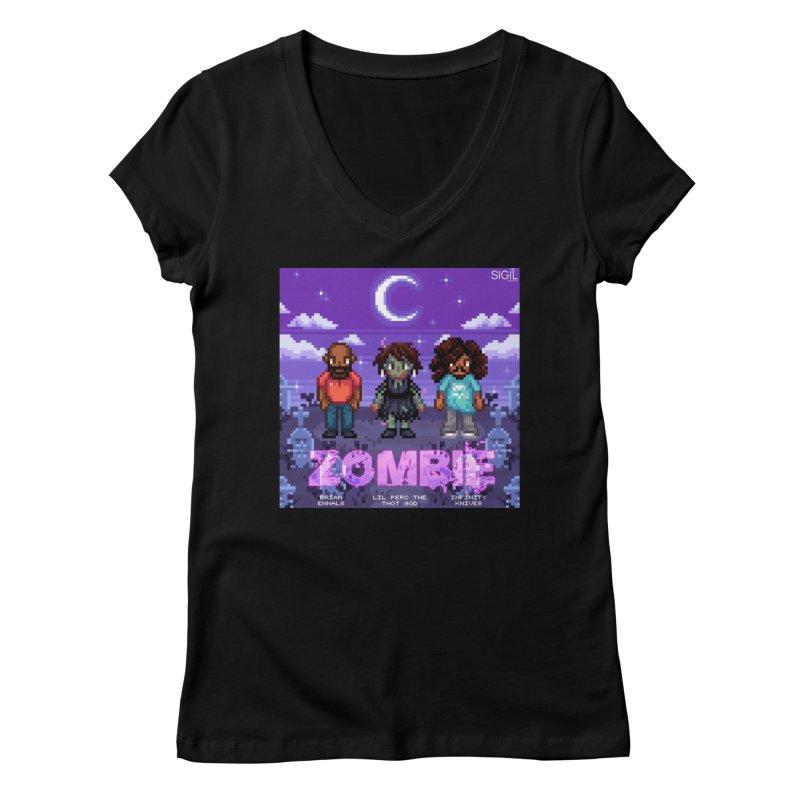 Zombie (Full) Women's Regular V-Neck by lil merch