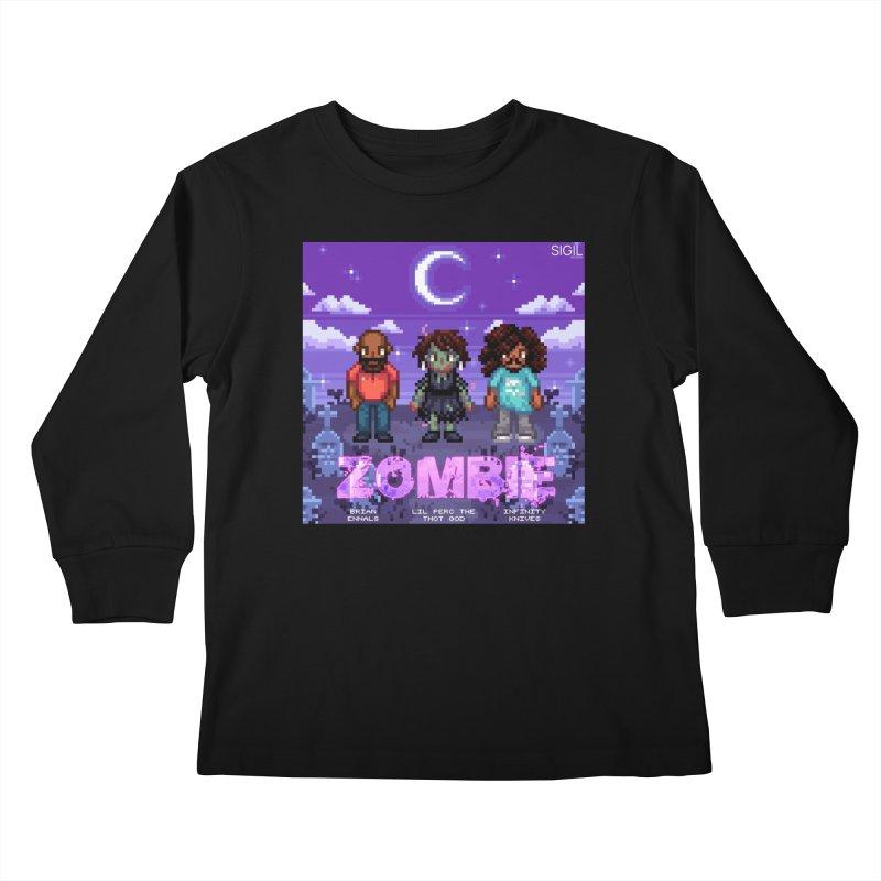Zombie (Full) Kids Longsleeve T-Shirt by lil merch