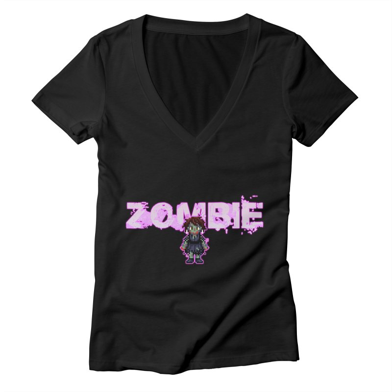 Zombie Perc 1 Women's Deep V-Neck V-Neck by lil merch