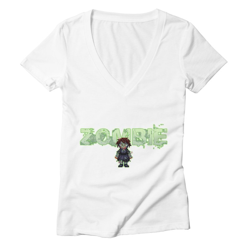 Zombie Sprite 2 Women's Deep V-Neck V-Neck by lil merch