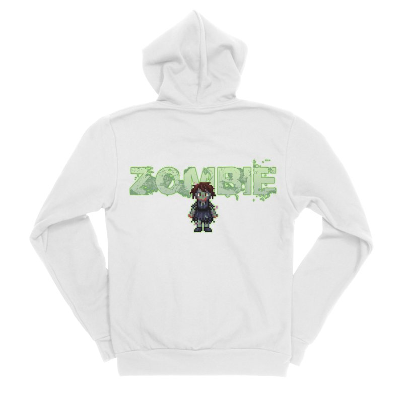 Zombie Sprite 2 Men's Sponge Fleece Zip-Up Hoody by lil merch