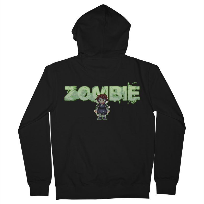 Zombie Sprite 2 Women's French Terry Zip-Up Hoody by lil merch