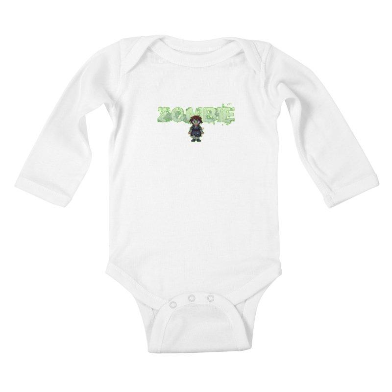 Zombie Sprite 2 Kids Baby Longsleeve Bodysuit by lil merch