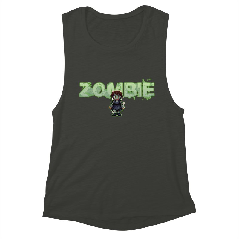 Zombie Sprite 2 Women's Muscle Tank by lil merch