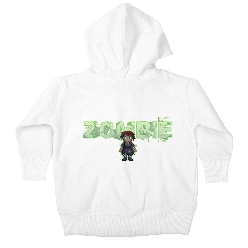 Zombie Sprite 2 Kids Baby Zip-Up Hoody by lil merch