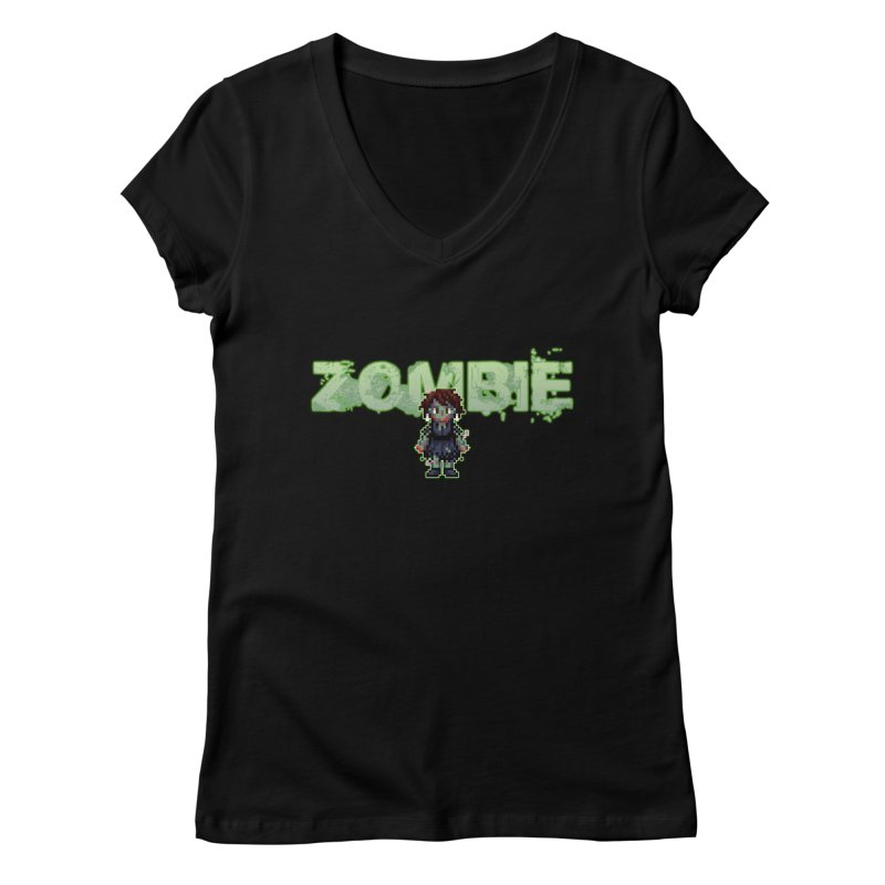 Zombie Sprite 2 Women's V-Neck by lil merch