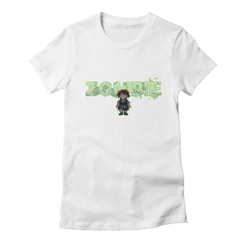 Zombie Sprite 2 Women's Fitted T-Shirt by lil merch