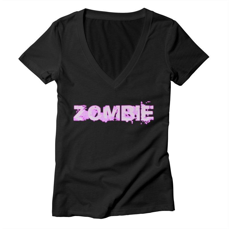 Zombie Type Women's Deep V-Neck V-Neck by lil merch