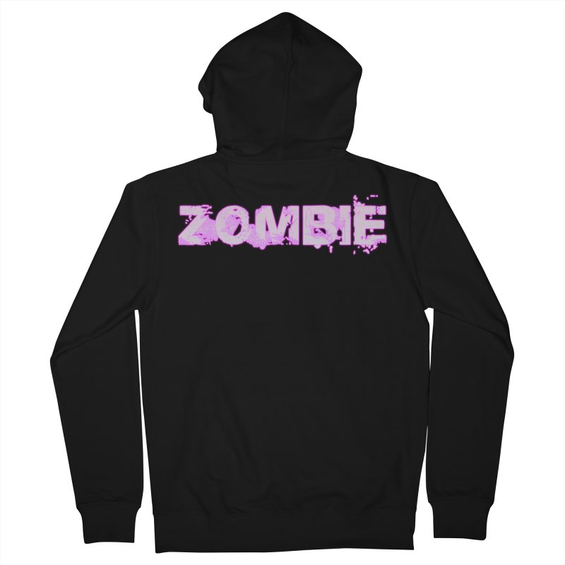 Zombie Type Men's French Terry Zip-Up Hoody by lil merch