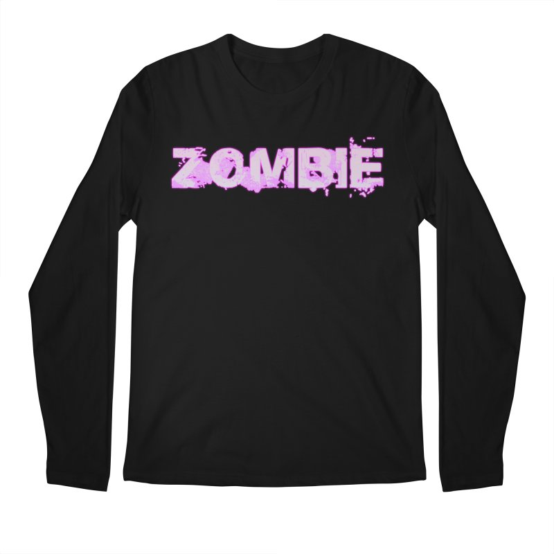 Zombie Type Men's Longsleeve T-Shirt by lil merch