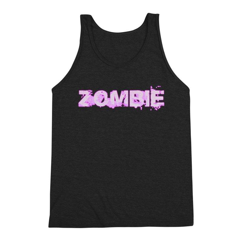 Zombie Type Men's Triblend Tank by lil merch