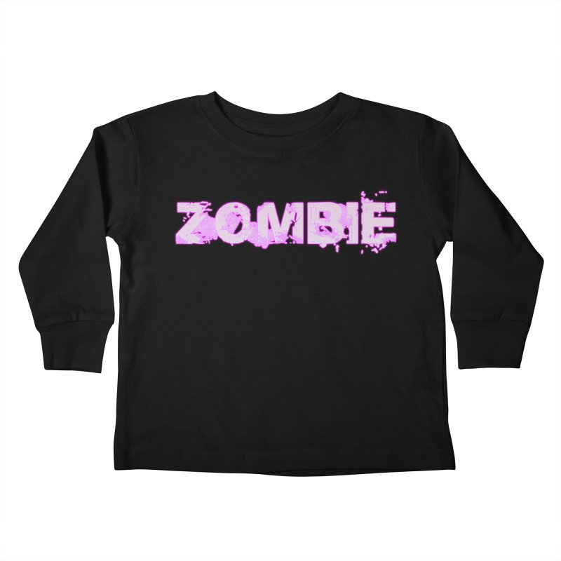 Zombie Type Kids Toddler Longsleeve T-Shirt by lil merch