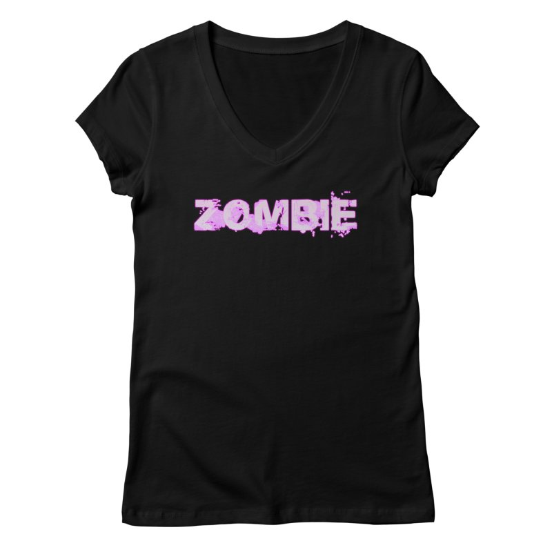 Zombie Type Women's V-Neck by lil merch