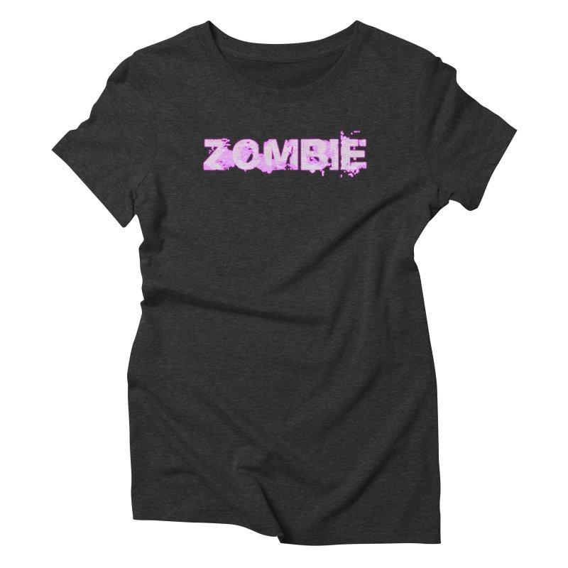 Zombie Type Women's Triblend T-Shirt by lil merch