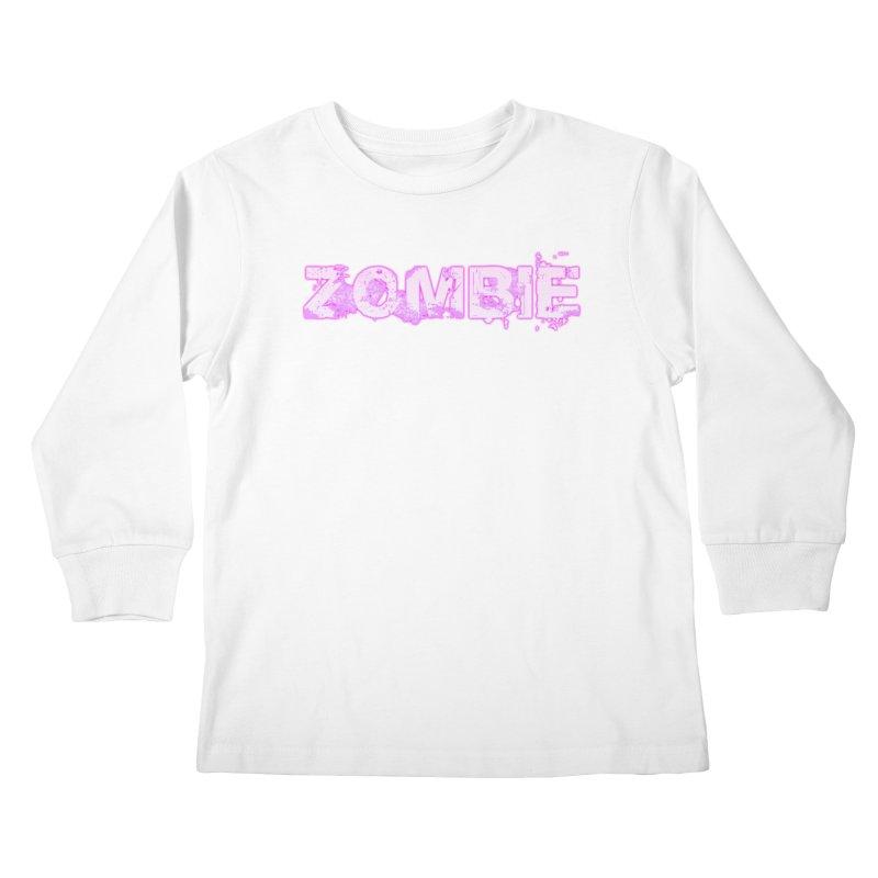 Zombie Type Kids Longsleeve T-Shirt by lil merch