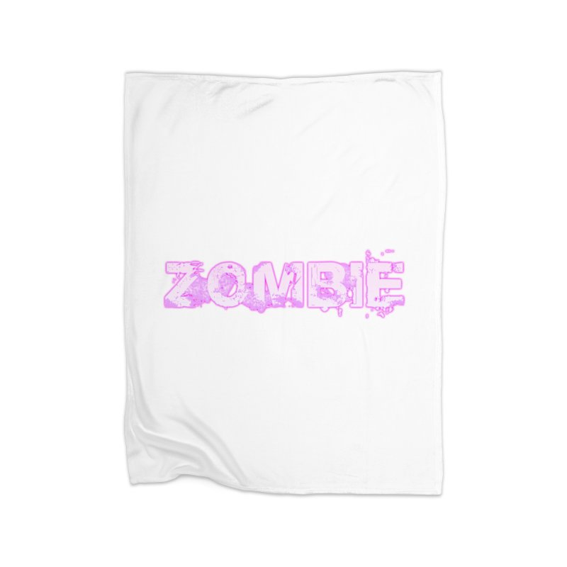 Zombie Type Home Fleece Blanket Blanket by lil merch