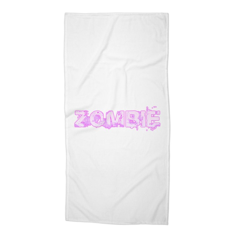 Zombie Type Accessories Beach Towel by lil merch