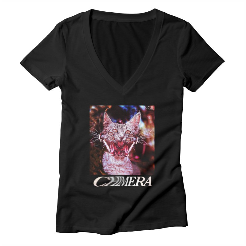 Chimera 1 Women's Deep V-Neck V-Neck by lil merch