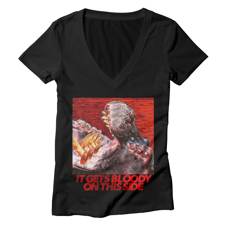 Bloody Women's Deep V-Neck V-Neck by lil merch