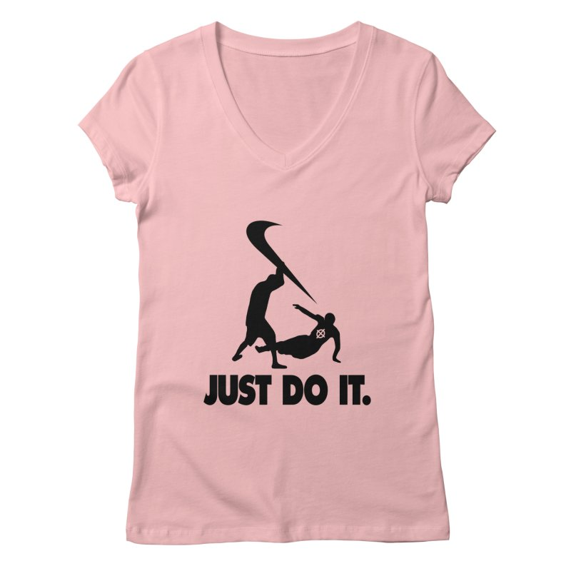 Just Do It (Black) –– @frontypython Women's V-Neck by lil merch