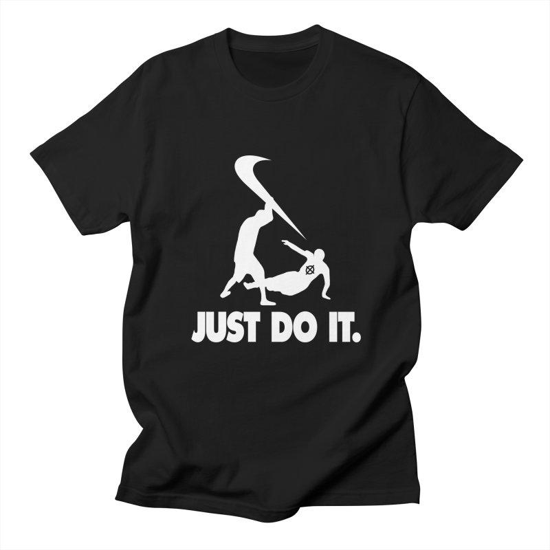 Just Do It (White) –– @frontyython Men's T-Shirt by lil merch