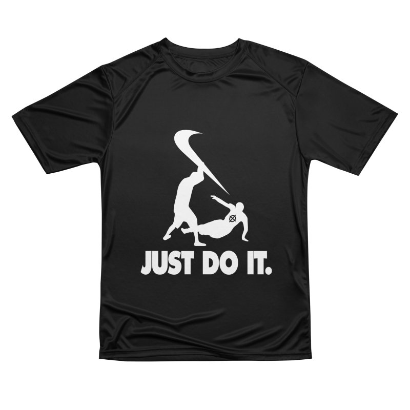 Just Do It (White) –– @frontyython Men's T-Shirt by lil merch