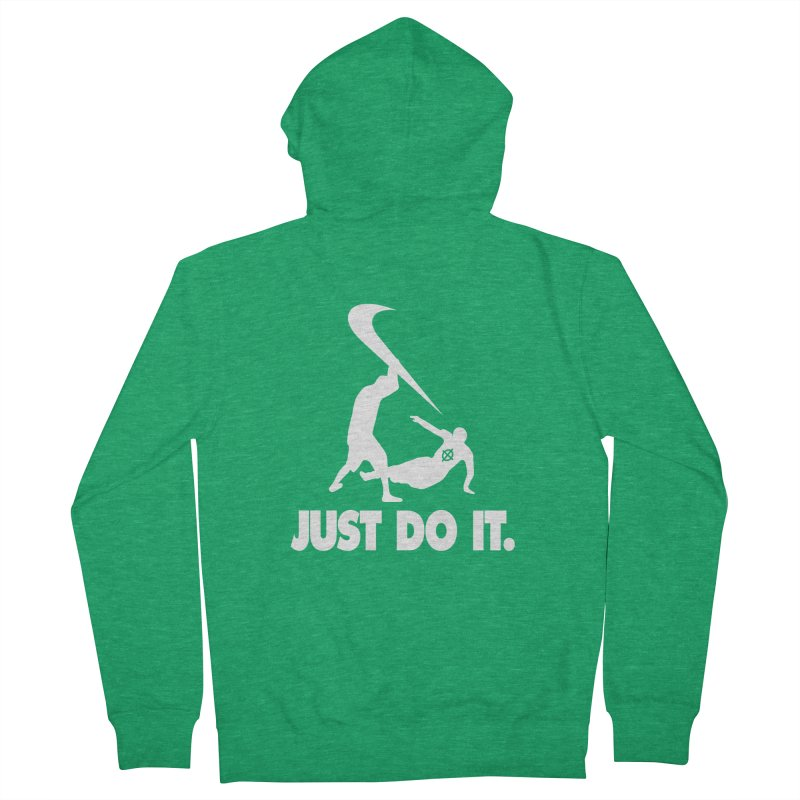 Just Do It (White) –– @frontyython Women's Zip-Up Hoody by lil merch