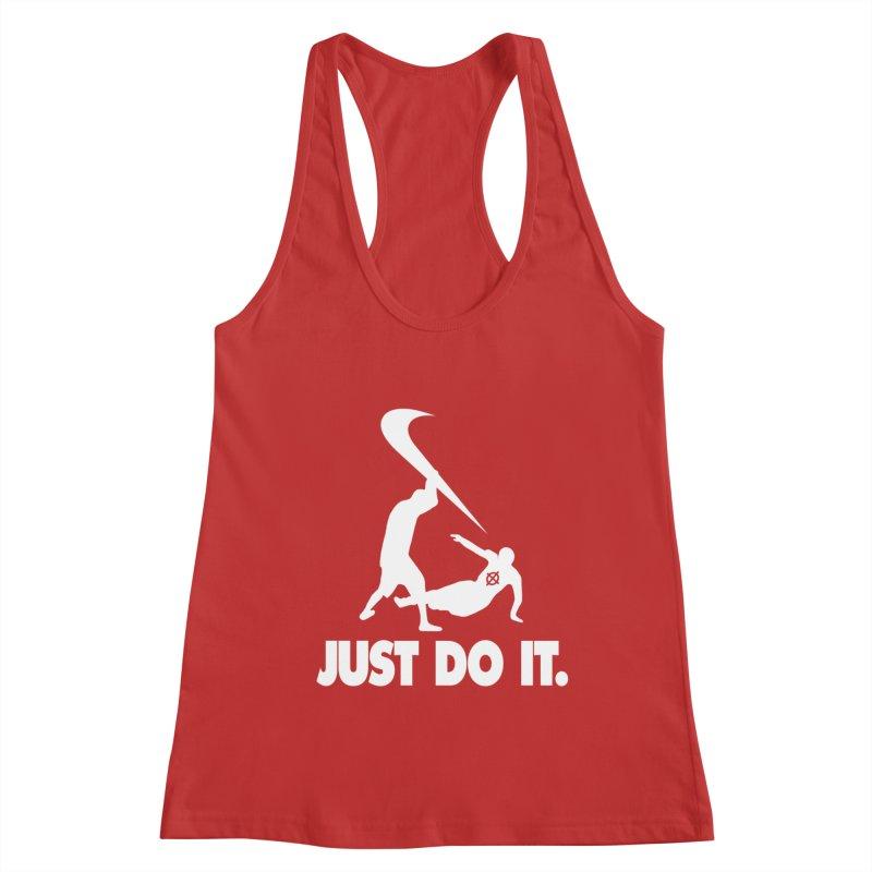 Just Do It (White) –– @frontyython Women's Tank by lil merch