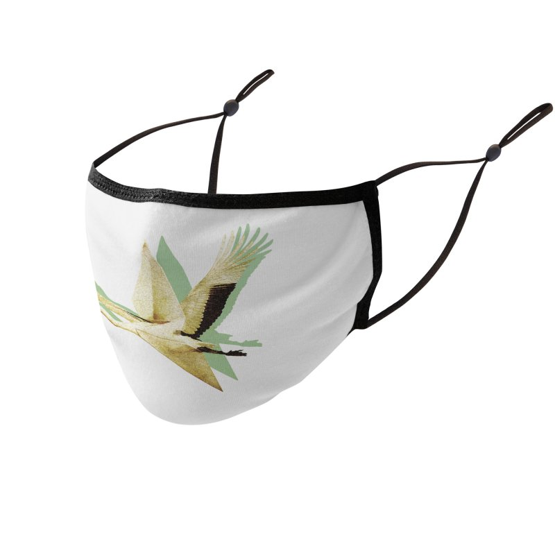 Paper Crane Accessories Face Mask by AlmostGone