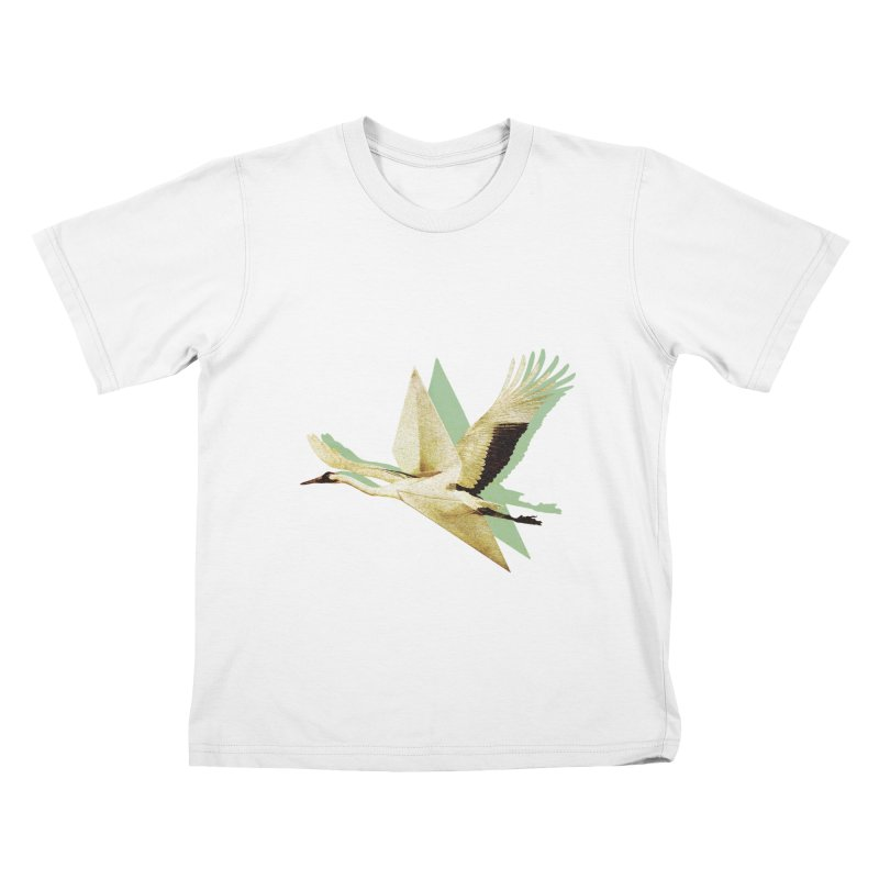 Paper Crane Kids T-Shirt by AlmostGone