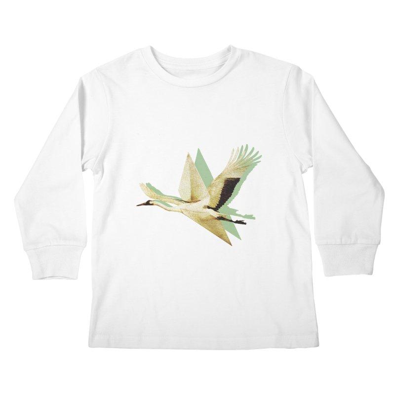 Paper Crane Kids Longsleeve T-Shirt by AlmostGone