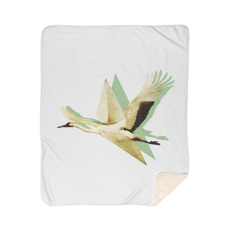Paper Crane Home Blanket by AlmostGone