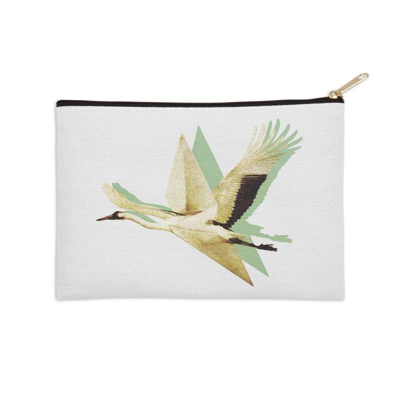 Paper Crane Accessories Zip Pouch by AlmostGone